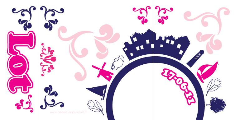 Geboortekaartje lot uniek ontwerp geboortekaartjes op maat - Ontwerp buitenkant ontwerp ...